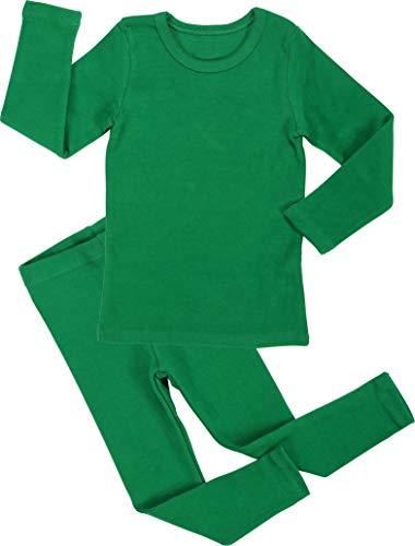 Girls Toddler Green (Baby Boys Girls Pajama Set 6M-8T Kids Toddler Snug fit Cotton Sleepwear (A-Green X-Large(110)/4T-5T))