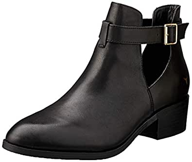Windsor Smith Women's Rowina Buckle Cut Out, Black, 5 AU