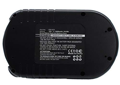 Synergy Digital Battery Compatible Hitachi CR18DL Power Tool Battery (Ni-MH, 18V, 3000 mAh) - Repl. Hitachi EB1812S Battery