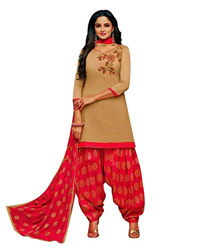 (Ladyline Kora Silk Handwork Salwar Kameez with Jacquard Dupatta Ready to Wear Salwar Suit)