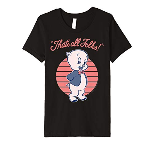 Kids Looney Tunes Porky Pig That's All Folks Premium T-Shirt