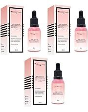 Sérum Facial Rosa Mosqueta com Ácido Hialurônico Regenera a Pele - Max Love - Kit com 3 Unidades