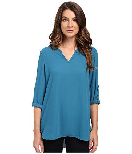 karen-kane-roll-tab-shirttail-top-baltic-blue-womens-clothing
