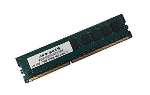 (4GB Memory for HP ProLiant ML10 v2 Server DDR3-1600 PC3L-12800E ECC UDIMM (PARTS-QUICK BRAND) )