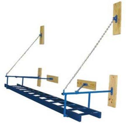 """18""""W x 12'L Wall Mounted Gym Ladder"""