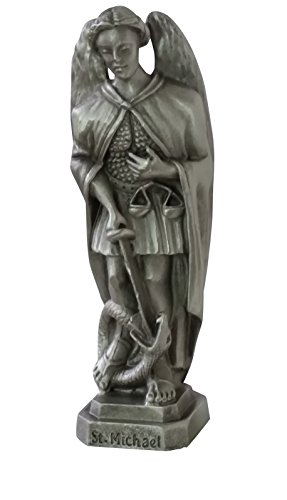 3.5 Inch Pewter Statue - Inspire Nation St Michael Statue Pewter Figurine 3.5 inches