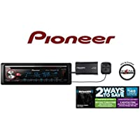 Pioneer CD Receiver DEH-X7800BHS w/ Built in Bluetooth, HD Radio SiriusXM Satellite Radio SXV300v1 and a FREE SOTS Air Freshener