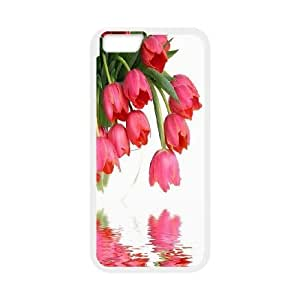 K-G-X Phone case For Apple Iphone 6 Plus 5.5 inch screen Cases Case-Pattern-20 Beautiful Holland Tulip Flower Protective Back Case