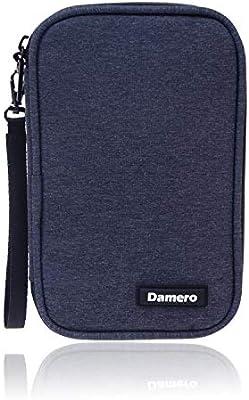 Damero Estuche para Tarjetas USB,SF,CF Cables Accesorios Eléctrica Ordenador para Gadget Bolsillos para Viaje(No Tiene Accesorios)- Azul Marino: Amazon.es: Electrónica