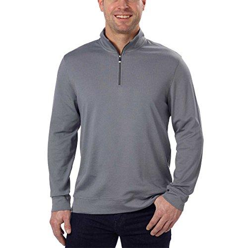 Calvin Klein Print Pullover (Calvin Klein Men's Quarter Zip Pullover (Large, Carven Rock Grey))