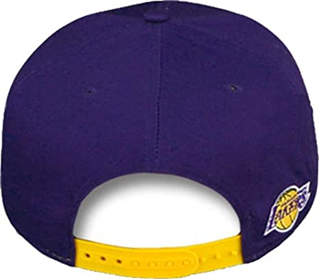 new concept 71758 bcf97 Amazon.com  YOUTH Los Angeles Lakers Iron Man Team Hero New Era NBA 9FIFTY  Snapback Cap Hat (Youth One Size, Purple)  Clothing