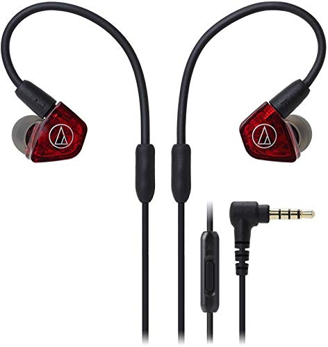Audio-Technica ATH-LS200iS In-Ear Dual Armature Driver Headphones with In-Line Mic & Control