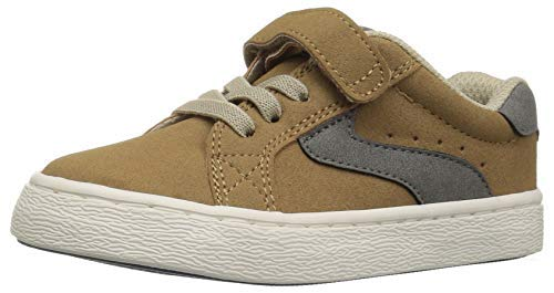 The Children's Place Boys' Lace Up Sneaker, Roasted Nuts TDDLR 4 Child US Toddler