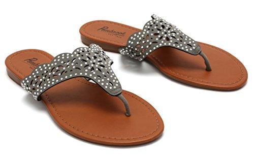 Picture of Pembrook Flat Thong Sandals - Dress Or Casual Flip Flops - Ladies Women Teens Girls