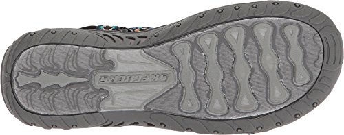 Misty Skechers Women's Charcoal Sandal Morning Multi Reggae pv7xqwESav