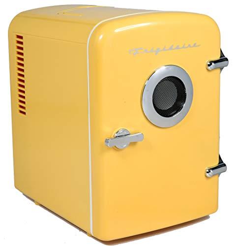 Frigidaire EFMIS151 Mini Portable Compact Personal Home Office Fridge Cooler BUILT IN SPEAKER, 4L Capacity, Chills Six…