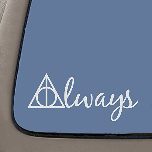 NI654 Always Harry Potter Decal | 5.5-Inches Wide | Premium Quality White Vinyl ()
