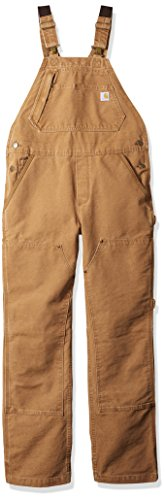 Carhartt Women's Weathered Duck Unlined Wildwood Bib Overalls, Brown, S Standard ()