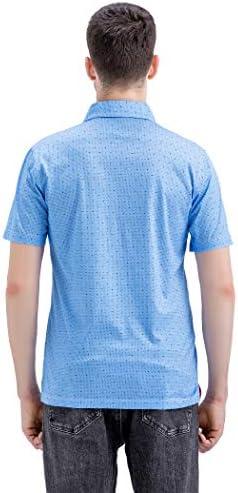 41MblvbUjKL. AC M MAELREG Men's Mercerized Cotton Short Sleeve Pima Polo Shirts Casual Collared Shirts    Product Description