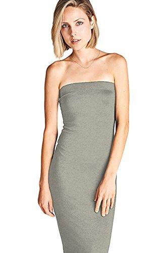 Heather Grey Stripe Dress - 7