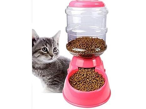 Kxrzu - Dispensador de Comida para Cachorros y Gatos, Color Rosa: Amazon.es: Hogar