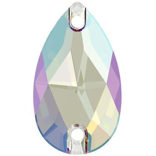 3230 Swarovski Sew On Crystals Peardrop Light Sapphire Shimmer | 28mm - Pack of 24 (Wholesale) | Small & Wholesale Packs