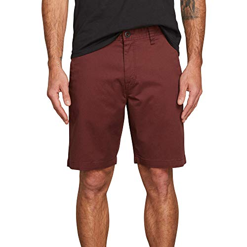 Volcom Men's Frickin Modern Stretch Chino Short, Bordeaux Brown, 30 ()