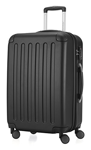 HAUPTSTADTKOFFER Spree Luggage Suitcase Hardside Spinner Trolley Expandable 24¡° TSA Black Cabin 24' Single