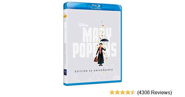 Amazon.com: Mary Poppins (50º Aniversario) (Blu-Ray) (Import Movie ...