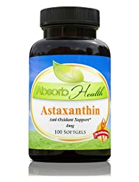 Astaxanthin | 100 Softgels 4mg | Powerful Antioxidant | Powerful Immune Booster