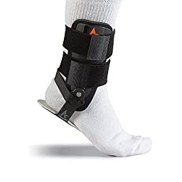 Active Ankle T1, Black, Small Rigid Ankle Brace For Injured Ankle Protection and Sprain Support