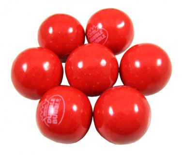 Bubble Gum Balls - Hot Chew Cinnamon, 5 lb ()