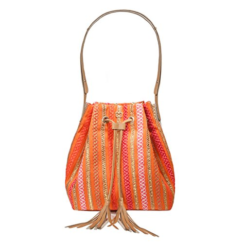 Eric Javits Luxury Fashion Designer Women's Handbag - Millicent - CoralMix