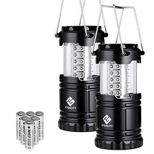 Etekcity LED Camping Lantern Collapsible Flashlight Portable Lamp AA Battery Powered Light, a Perfect Choice for Camping, Hiking, Emergency, Storm Season, Power Outage, Kids, Seniors, CL10(2 Pack) (Sale Red For Lanterns)