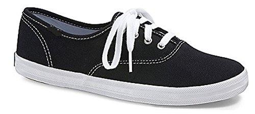 Charles Albert Vrouwen Canvas Veterschoenen Sneakers Zwart En Wit