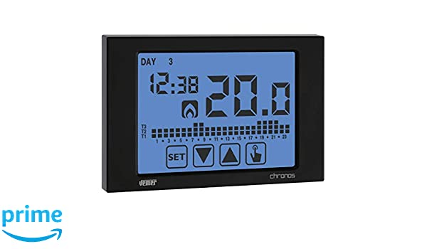 Termostato Reloj pantalla táctil programa semanal batería ...
