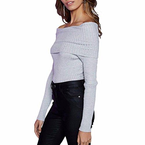 QIYUN.Z Tops Gris Pour Les Femmes Bretelles Bretelles Slim Fit Long Sleeve Jumpsuit