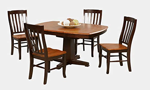 Wood Extendable Dining Table - Dining Table with Butterfly Leaf - Chestnut/Espresso