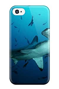 Iphone 4/4s Case Cover Scalloped Hammerhead Shark In Blue Water Case - Eco-friendly Packaging