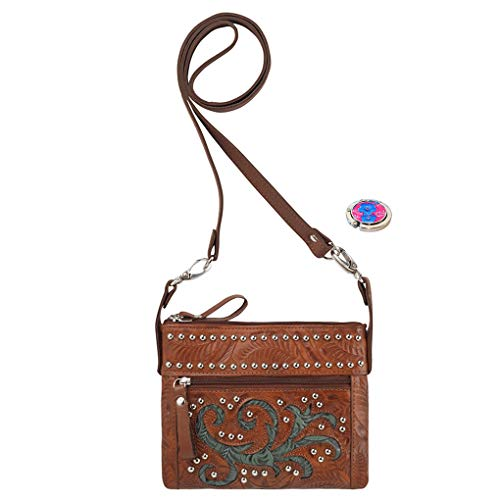 West Cross Rider Turquoise American Bundle Purse Leather Bag Trail Holder Small Handbag Body Belt FtqxOURwqd