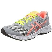 ASICS Contend 5 GS 1014A049024, Zapatillas de Running Unisex niños, Gris Piedmont Grey Sun Coral, 38 EU