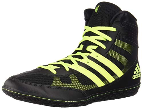 adidas Mat Wizard Black/Solar Yellow Wrestling Shoes (The Mat Wrestling)