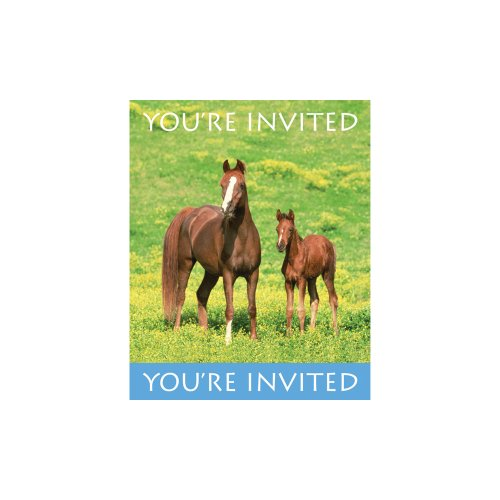 Creative Converting Wild Horses 8 Count Party Invitations