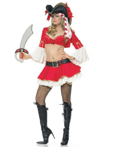 Leg Avenue Pirate Booty Costume (Captain Booty Adult Costume - X-Small)