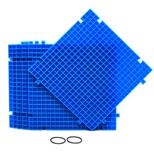 Creator's Waffle Grid 6-Pack Blue Modular Surface For Glass Cutting, Small Parts, Debris, or Liquid Containment. Use At Home, Office, And Shop. Works With Creator's And Morton Products