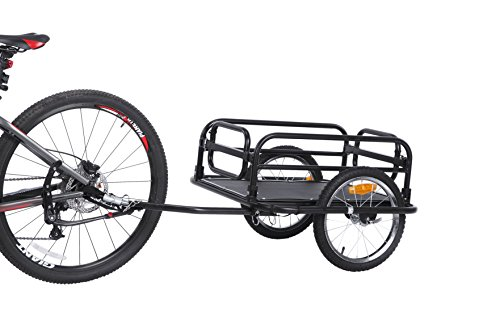 Sepnine Large Sized Foldable Bicycle Cargo Trailer with Quick Release Wheel 20300 (Black)