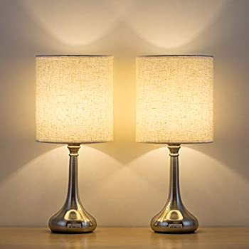 Haitral Small Table Lamps Elegant Bedside Nightstand
