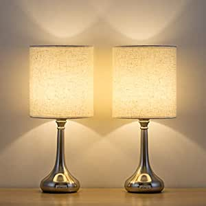 Haitral Bedside Table Lamps Set Of 2 Small Modern