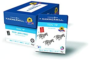 Hammermill Paper,Tidal, 20lb, 8.5 x 11, 3 Hole Punch, 92 Bright, 5000 Sheets / 10 Ream Case (162032C), Made In The USA