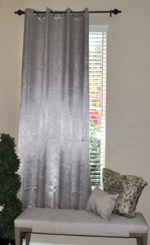 EverRouge Floral Solar Blackout Curtain, 84-Inch, Beige by EverRouge